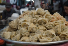 mountains of mandu at the same noodle stall