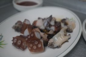 Parts of the octo, the shell and abalone
