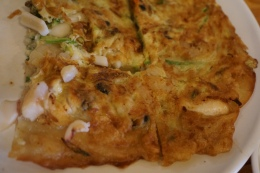 and also this huge seafood pajeon (pancake)