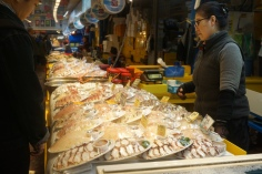 Have your sashimi and eat it too! Fresh from the stall.