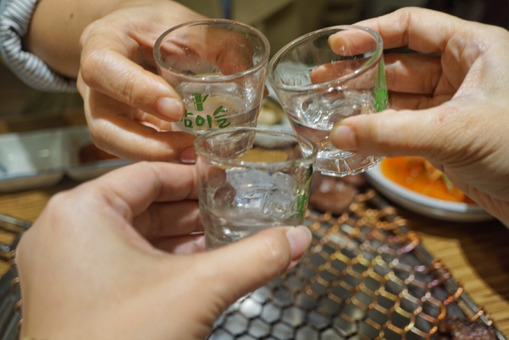 Do it like in the K-dramas - clink those Soju glasses!