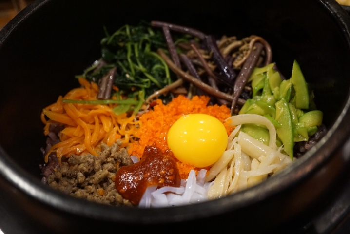 craved bibimbap so had to order it here ..