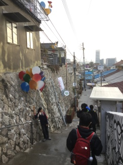 We stumble upon Ihwa Mural Village