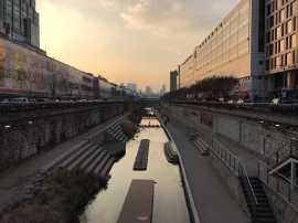 Entering the Cheonggyecheon at Dongdaemun