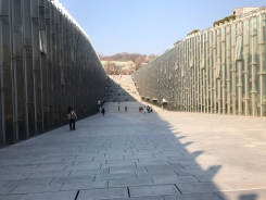 Like a rift valley, the walls are made of glass and most of the facility runs underground